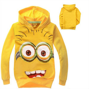 Minion 4 Cotton Tops Long Sleeved Hoodie